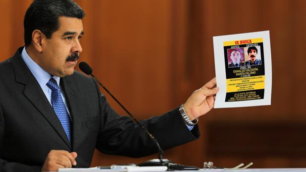 Nicolás Maduro muestra las supuestas pruebas del atentado en su contra