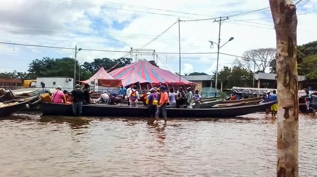 El sur de Venezuela pide ayuda por las inundaciones