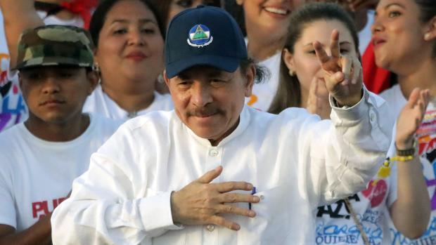 Daniel Ortega durante la celebración del 39º aniversario de la revoución sandinista