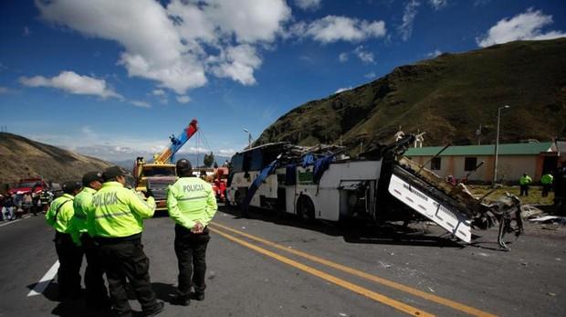 Fotografía del autobús tras el accidente el pasado martes