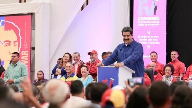 Nicolás Maduro durante el congreso del Partido Socialista Unido de Venezuela este julio
