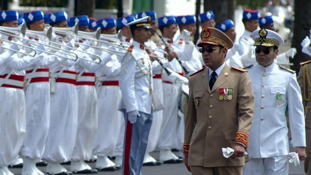 El rey Mohamed VI durante el 50 aniversario del Ejercito marroquí en 2008