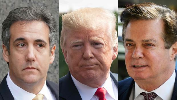 Trump, contra las cuerdas por la defección de Cohen y la condena de Manafort