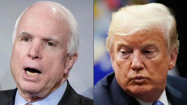 Trump no asistirá al funeral del fallecido John McCain
