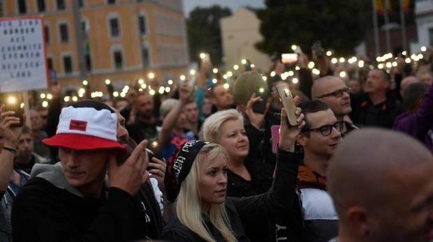 Protestas en Chemnitz: «¡Váyanse a su país, queremos seguridad en nuestras calles!»