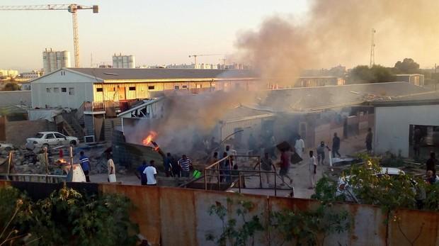 Un proyectil alcanza un campo de refugiados en Trípoli