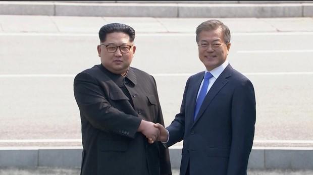 Kim Jong-un y Moon Jae-in en la pasada cumbre en Panmunjom