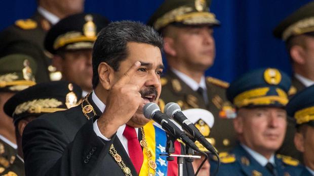 Maduro antes del supuesto atentado