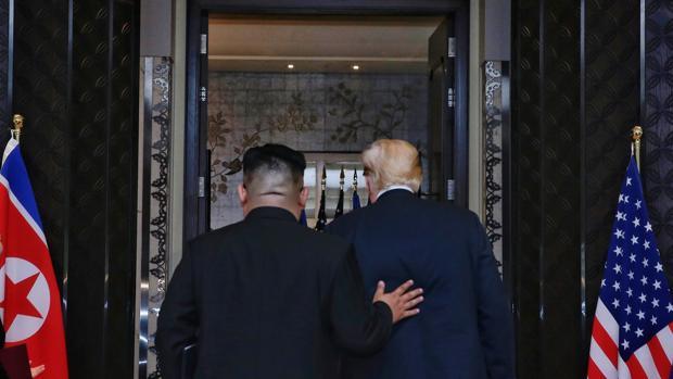 Donald Trump y Kim Jong-un el pasado 12 de junio en su primera reunión