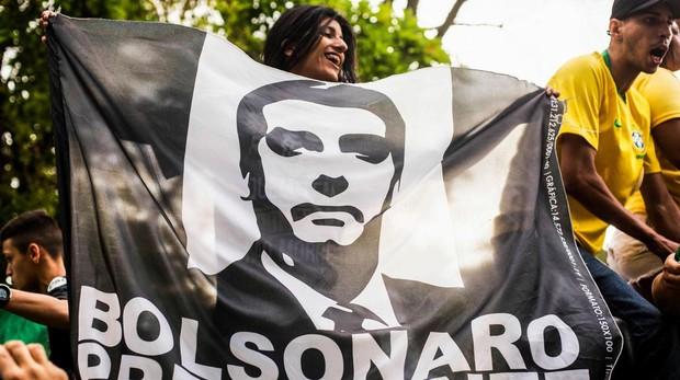 Partidarios de Bolsonaro en Río de Janeiro