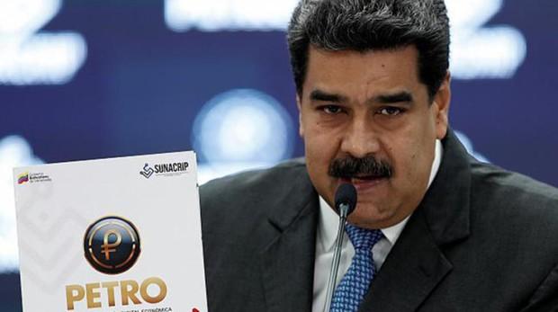 El presidente Nicolás Maduro hablando sobre el petro