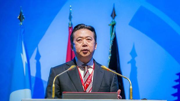 Una imagen distribuida por INTERPOL que muestra a Meng Hongwei, presidente chino de Interpol