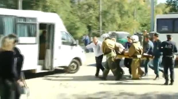 Captura de vídeo de la zona del atentado