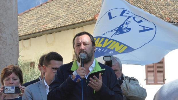 El líder de la ultraderechista Liga y ministro de Interior, Matteo Salvini