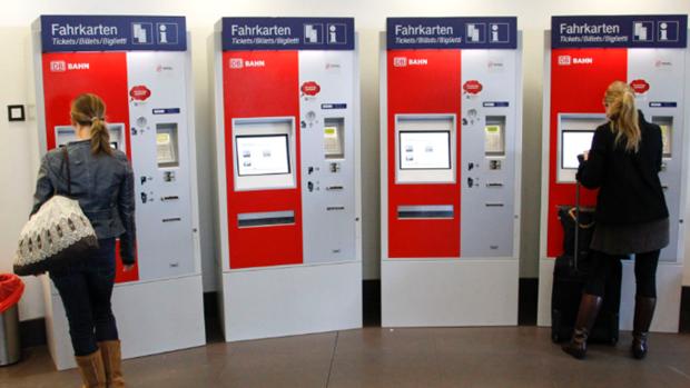 Máquinas expendedoras de billetes de tren en Alemania