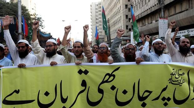 Islamistas protestan en Karachi tras la absolución de la cristiana Asia Bibi esta semana