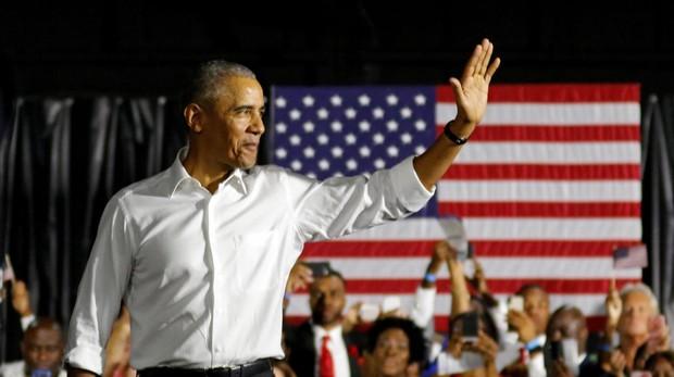 El expresidente Barack Obama, durante un mitin en Miami la semana pasada