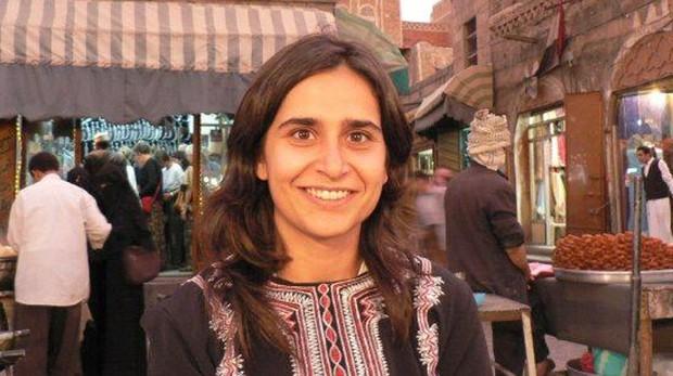 Leyla Hamad en el mercado de Bab al-Yemen, en Saná, en 2007