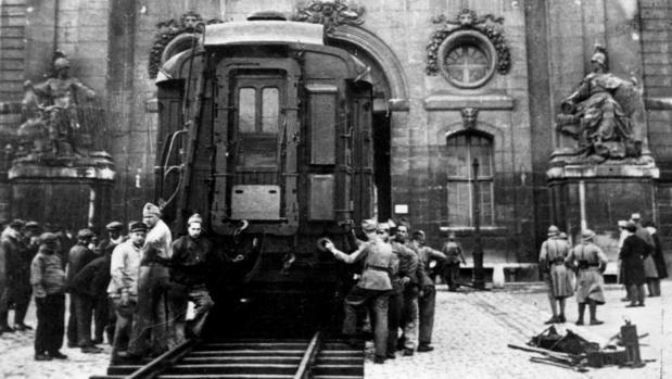 El vagón donde se firmó el armisticio tras la Primera Guerra Mundial
