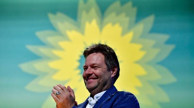 El co-líder de Los Verdes, Robert Habeck, durante el congreso el fin de semana pasado en Leipzig