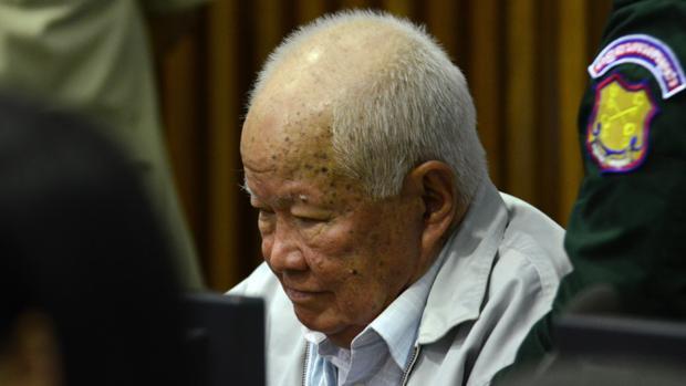 Khieu Samphan, en el juicio