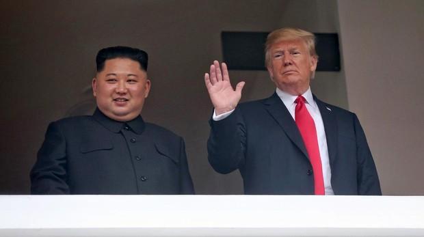 Kim Jong-un y el presidente Trump, el pasado mes de jumio durante su histórica cumbre en Singapur