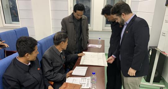 Quesada, durante su estancia en Corea del Norte