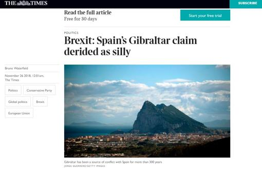 La prensa británica sobre Gibraltar: «La demanda por parte de España fue ridícula» Times-prensa-kAo--510x349@abc
