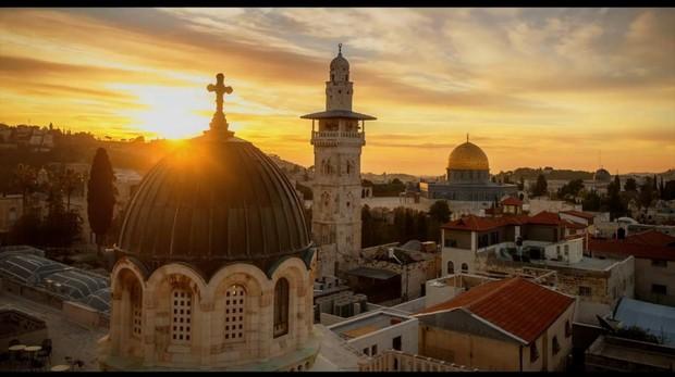 Amanecer en la Ciudad Vieja de Jerusalén