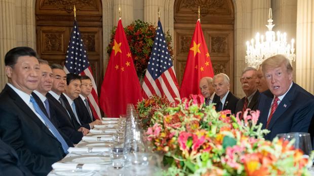 Trump y Xi Jinping, durante la cena