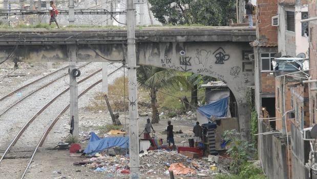 Una favela al norte de Río de Janeiro
