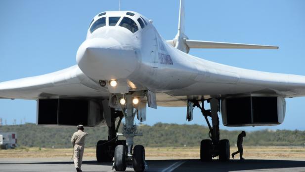 Uno de los Tupolev Tu-160 enviados por Moscú a Venezuela