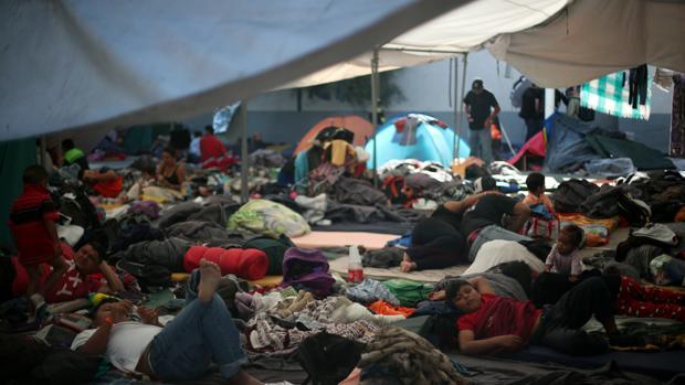 Parte de la caravana de migrantes que tratan de llegar a Estados Unidos
