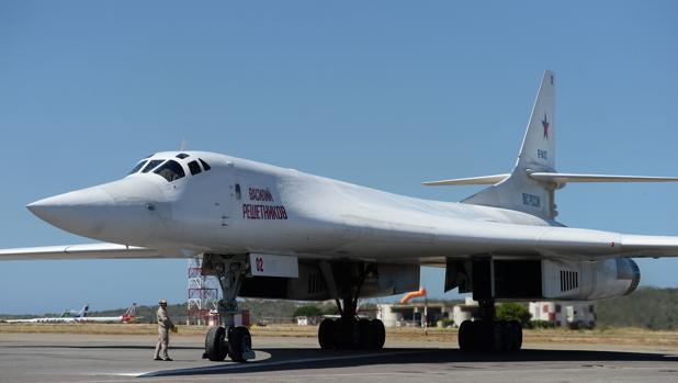 Uno de los aviones Tupolev Tu-160 de Rusia que llegaron a Caracas el pasado 10 de diciembre