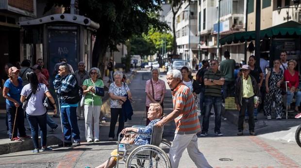Jubilados protestan en Caracas