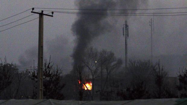 Imagen del edificio atacado