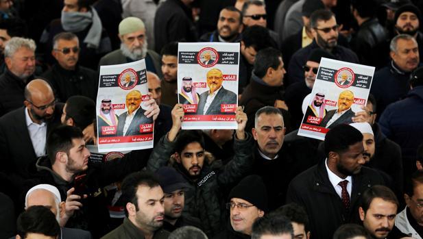 Simbólico funeral por Khashoggi en Estambul el pasado noviembre