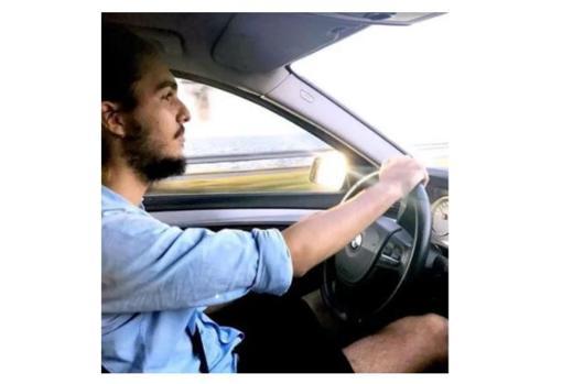 El nieto de Fidel Castro, al volante de un BMW