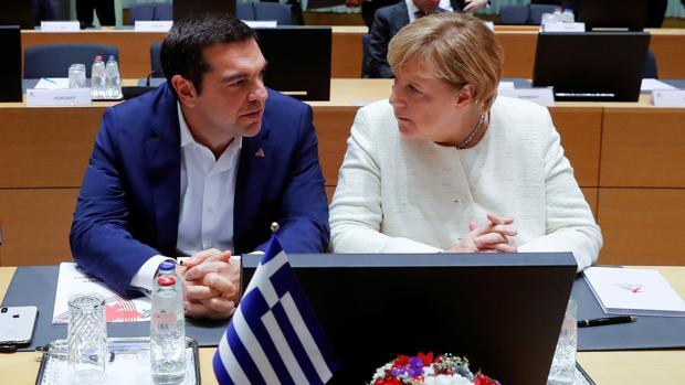 Tsipras y Merkel, en una imagen de archivo