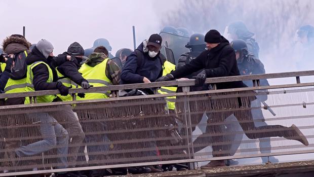 Últimos disturbios provocados por los chalecos amarillos