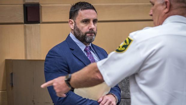 Pablo Ibar, a su llegada a la sala de vistas en el tribunal del condado de Broward (Florida) el pasado lunes