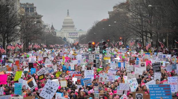 Imagen de la marcha de mujeres en Washington, en enero de 2017