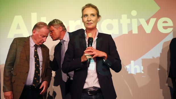 Alice Weidel, Alexander Gauland y Joerg Meuthen, de AfD, el pasado septiembre de 2017
