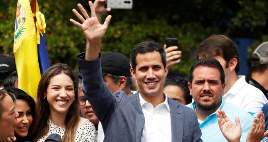 Juan Guaidó, durante un acto público en Caracas