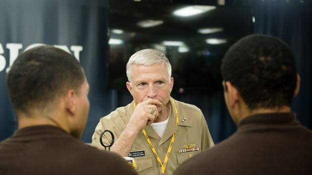 El jefe del Comando Sur, almirante Craig Faller, llegó el jueves a Cúcuta