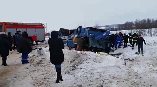 Al menos cuatro muertos y decenas de heridos tras el accidente de un autobús en Rusia