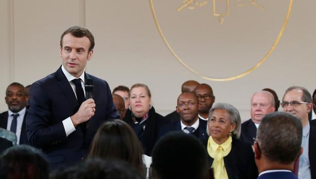 Emmanuel Macron, en una reunión con alcaldes el pasado 1 de febrero