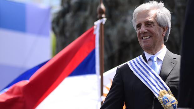 El presidente de Uruguay, Tabaré Vázquez, en 2015