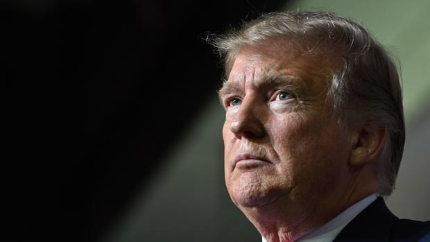 Donald Trump, este jueves en un acto en Washington