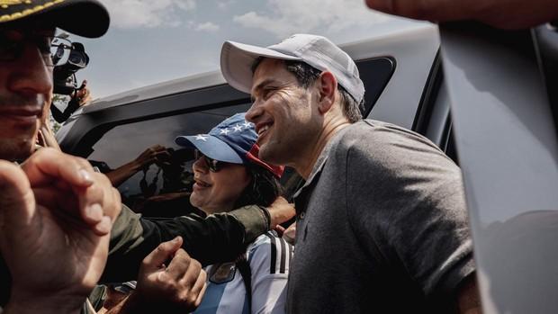 El senador Marco Rubio, este domingo en Cúcuta (Colombia)